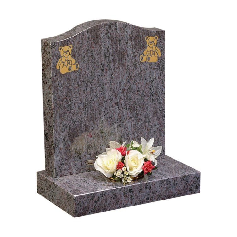 Two Gilded Teddies Headstone