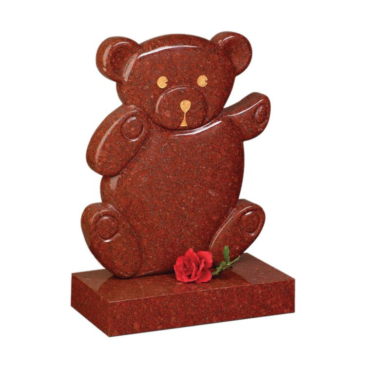 Teddy Bear Shaped Headstone image 2