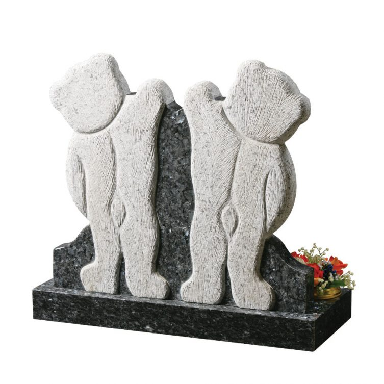 Two Carved Teddies Headstone image 2