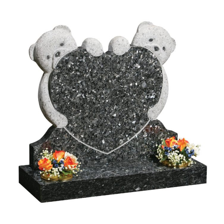 Two Carved Teddies Headstone