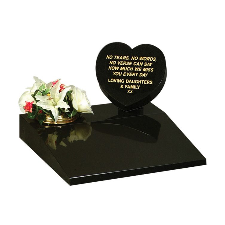 Heart and Tablet Small Memorial