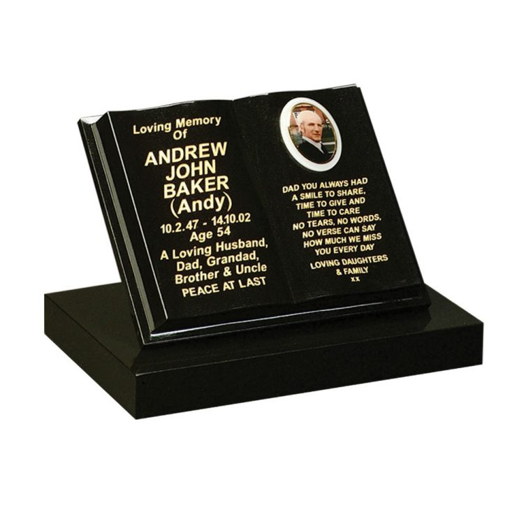Shaped Book Small Memorial