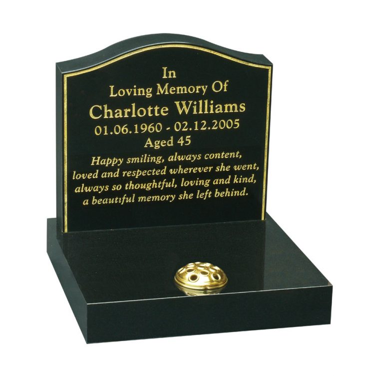 Gilded Keyline Small Memorial image 1