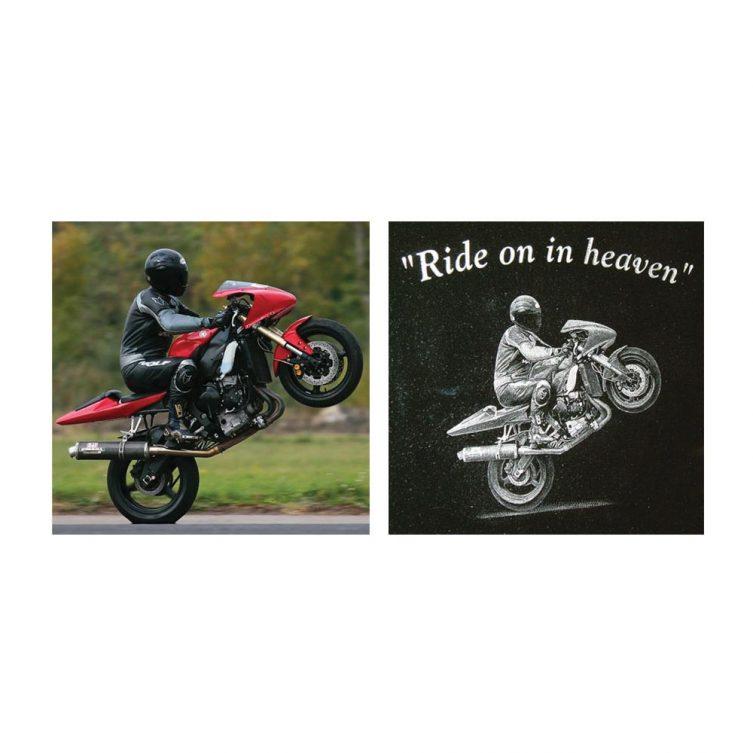 Small Motorbike Etching image 2