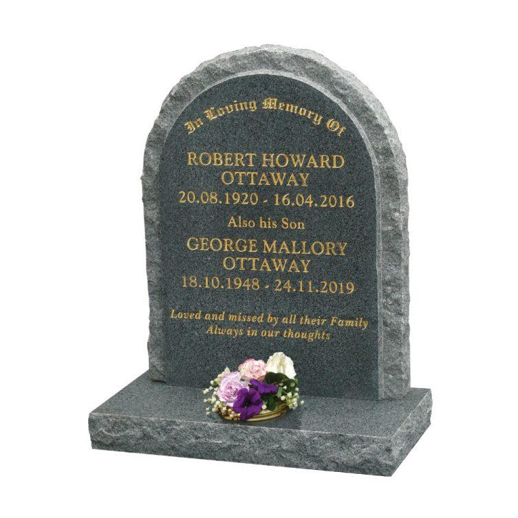 Round Top Headstone