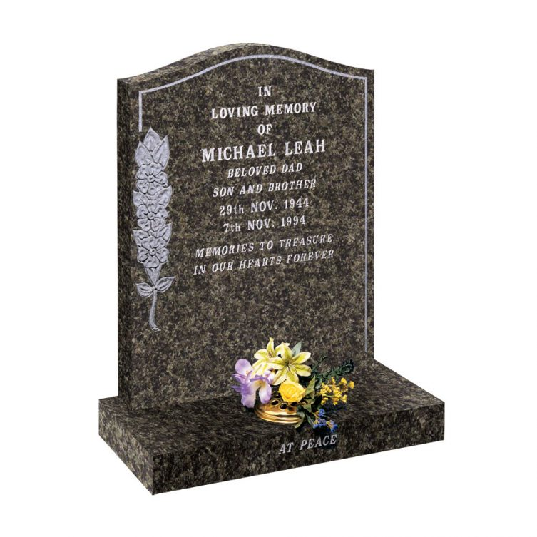 Headstone with Old English Roses image 1