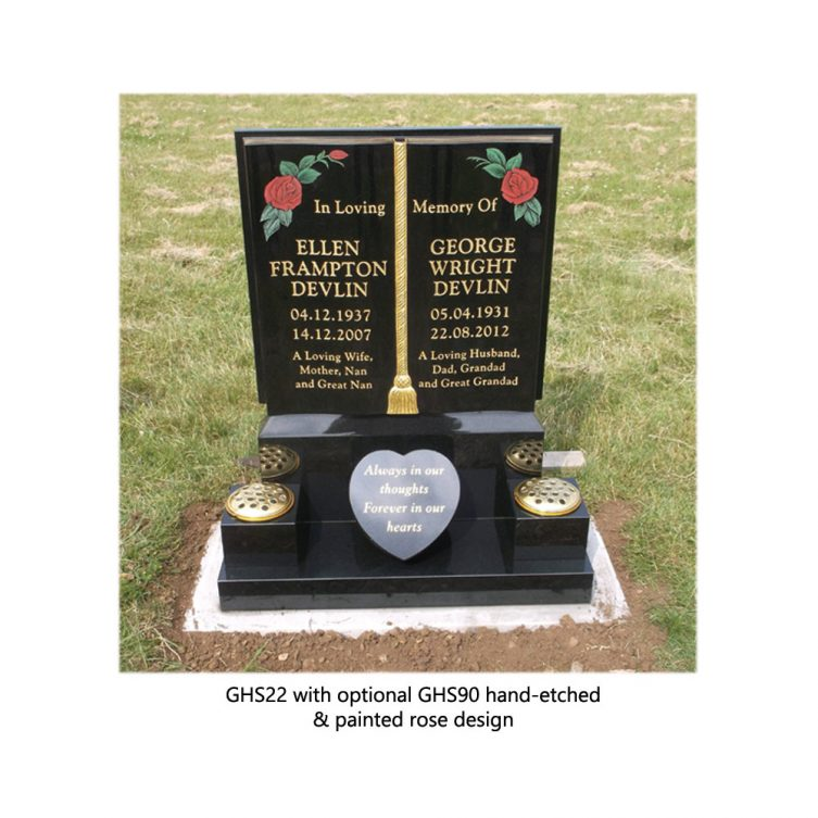 Gilded Book Headstone image 4