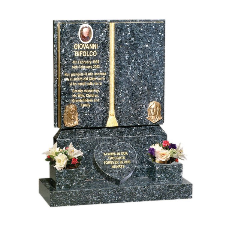 Gilded Book Headstone image 3