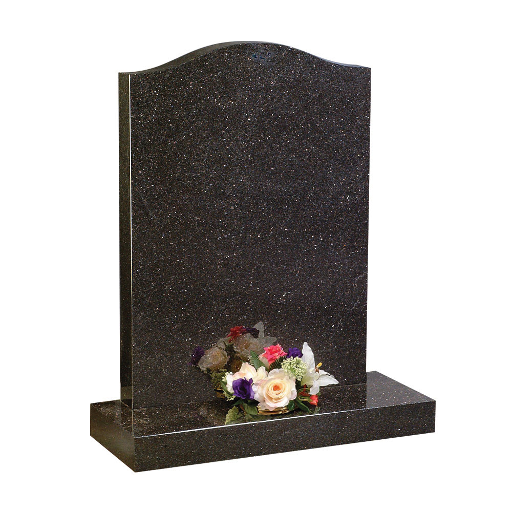 Polished Galaxy Black Granite Headstone 1st Choice Memorials