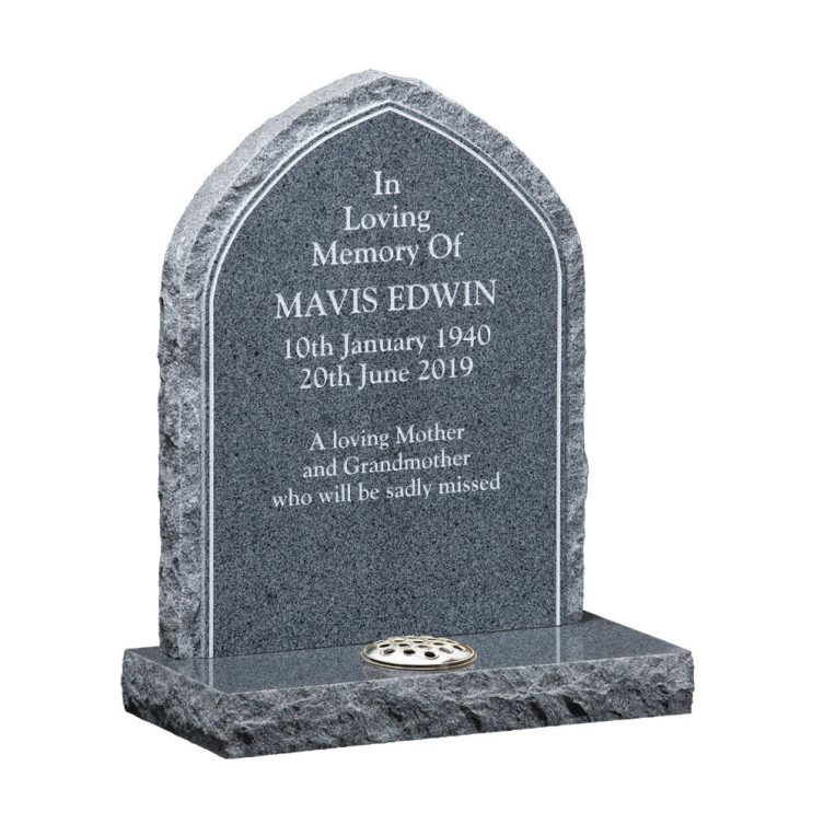 Traditional Gothic Style Headstone image 1
