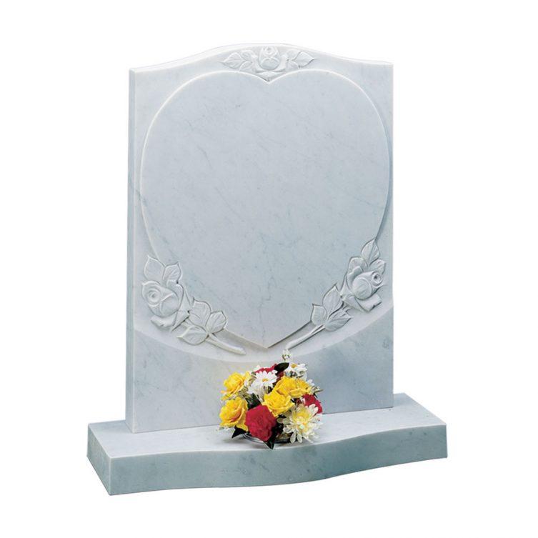 White Marble Headstone 1st Choice Memorials