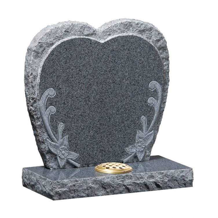 Heart Shaped Floral Headstone image 1