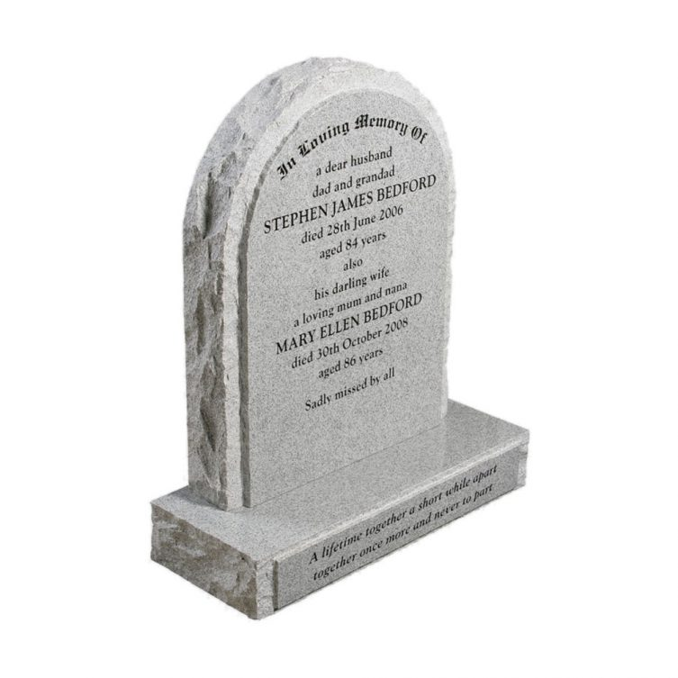 Thick Pitched Traditional Headstone image 2