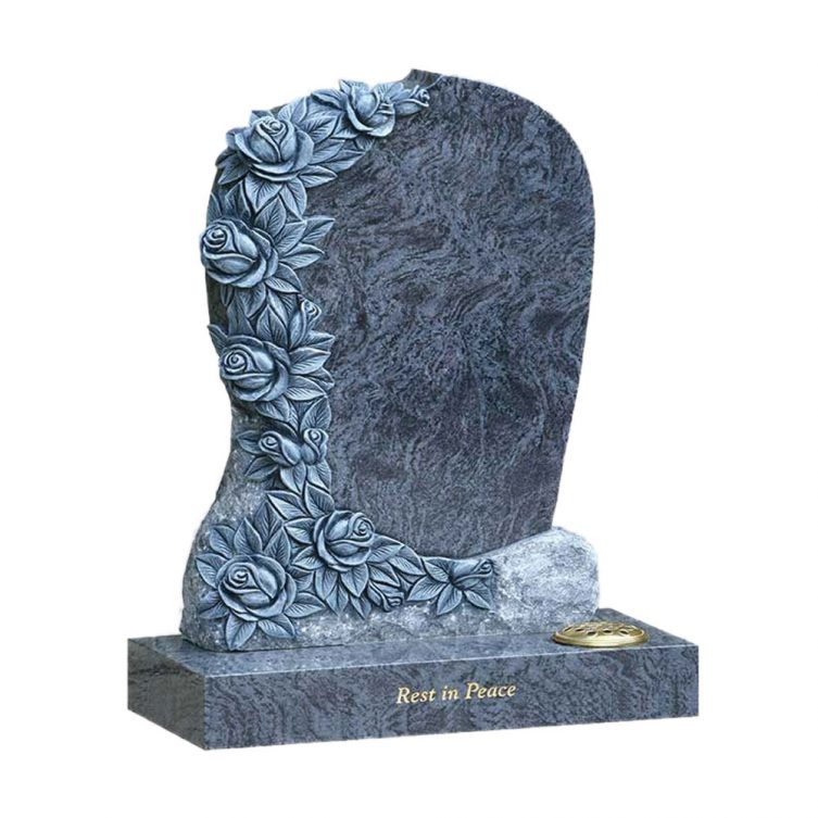 Unique Rose Carving Headstone