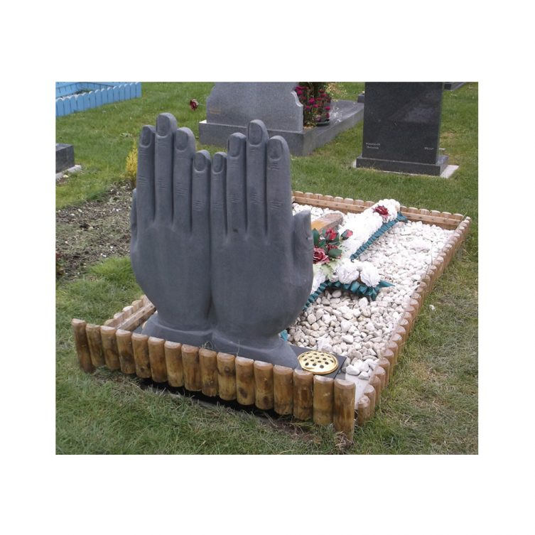Hands and Book Headstone image 2