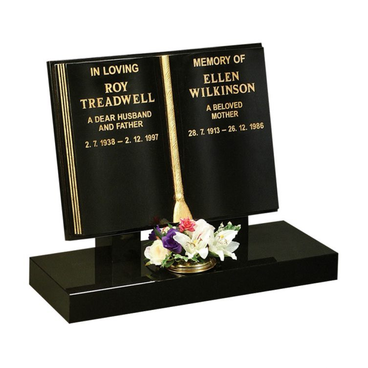 Fully Shaped Book Headstone image 1