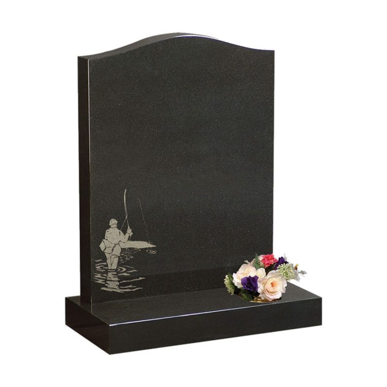 Fisherman Design Headstone