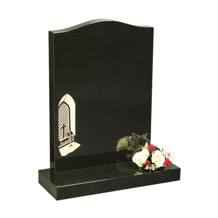 Lectern and Window Design Headstone image 1