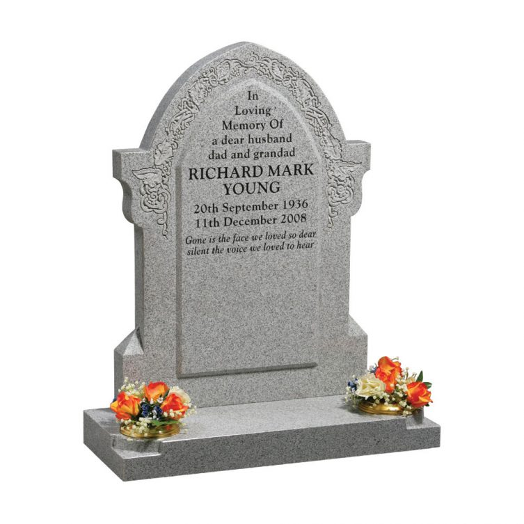 Classic Gothic Top Headstone image 1
