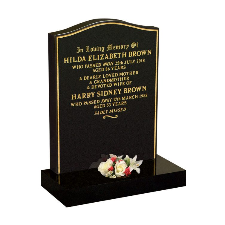 Gold Keyline Traditional Headstone