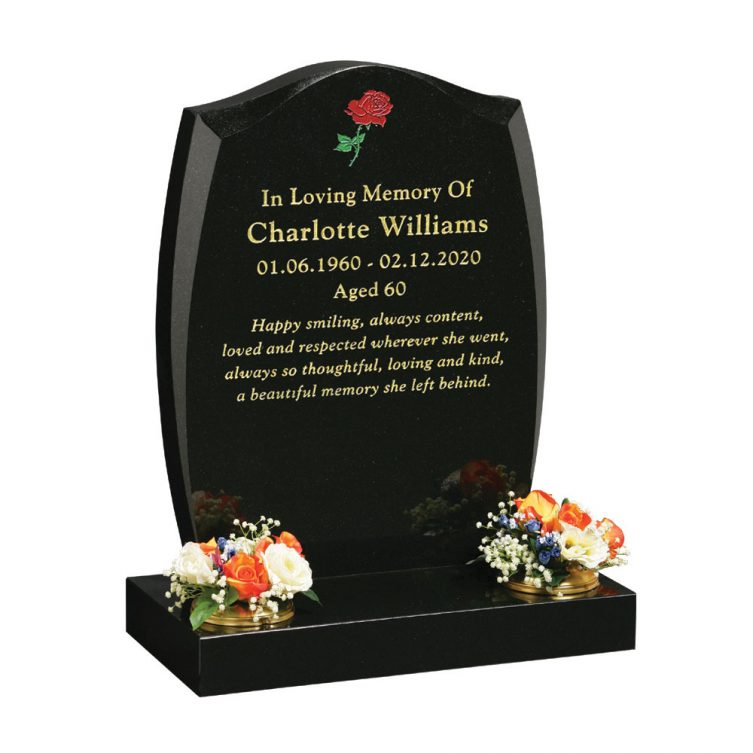 Headstone with Cambered Sides
