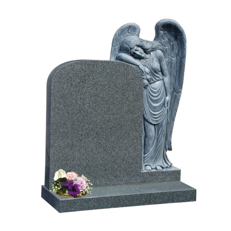 Carved Weeping Angel Headstone image 1