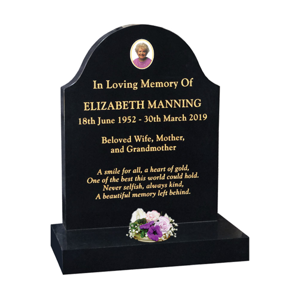Value Round Top Headstone
