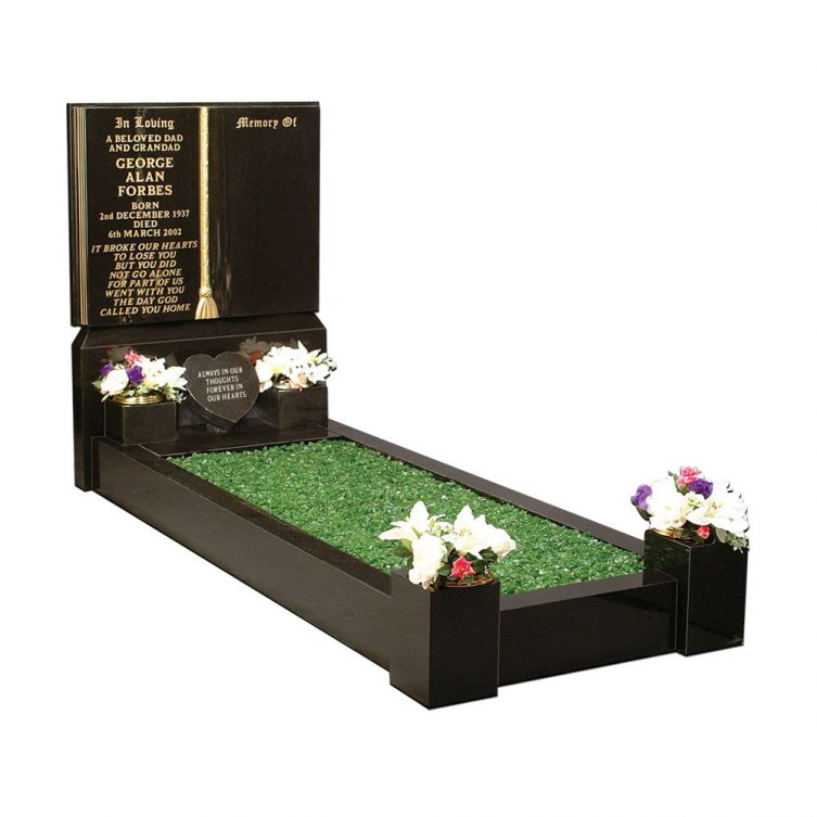 Gilded Book Kerbed Memorial image 1