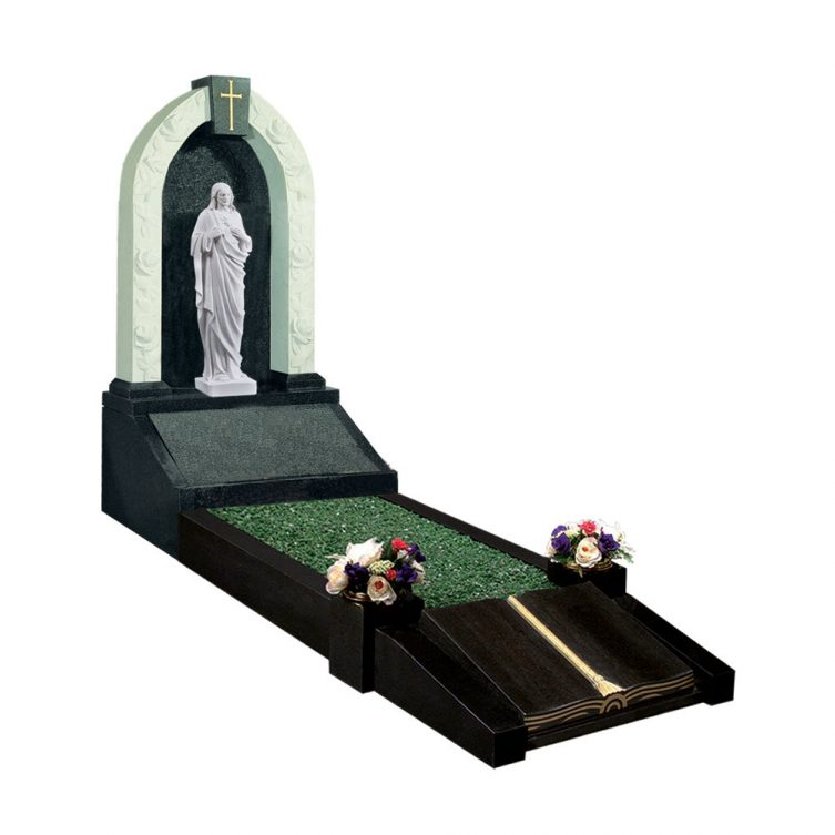 Sacred Heart and Book Kerbed Memorial image 1
