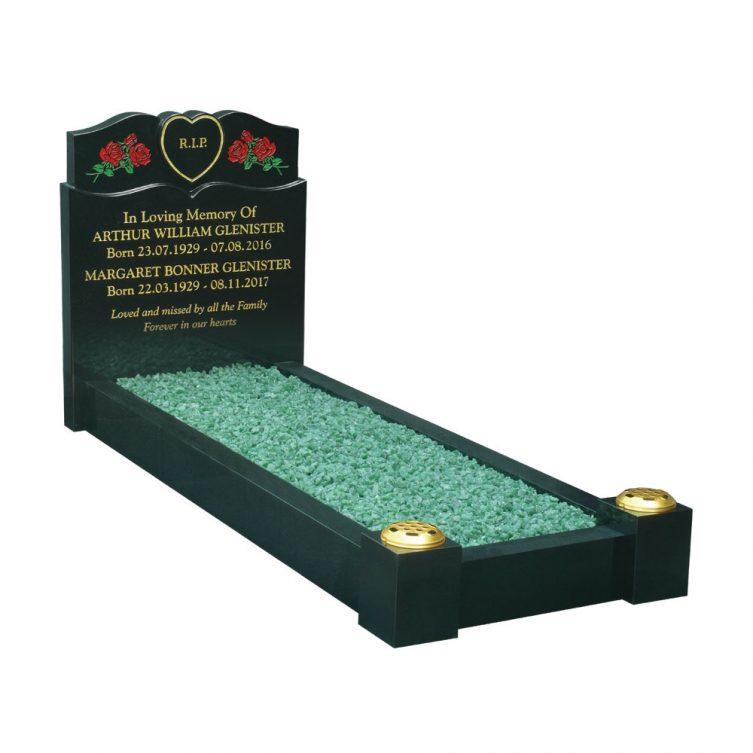 Heart and Roses Kerbed Memorial image 1