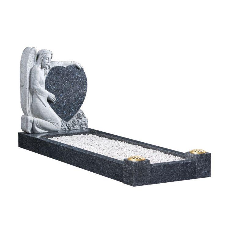 Kneeling Angel Kerbed Memorial image 1