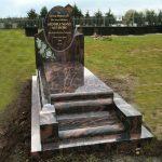 Oval Headstone with Roses and Kerbs image 2 thumbnail
