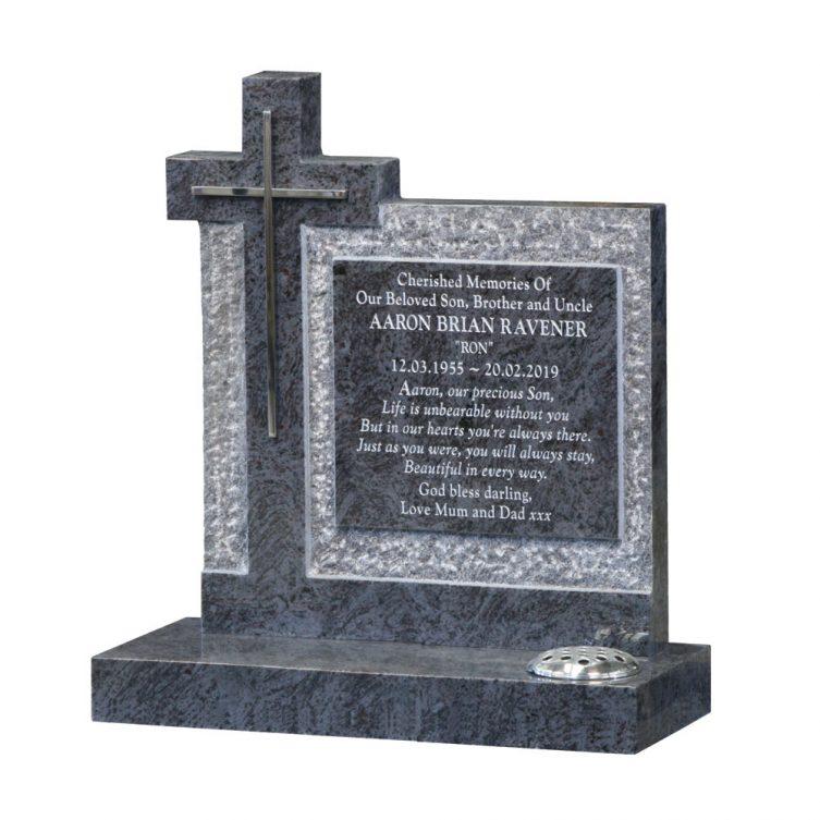 Inset Cross Headstone image 1