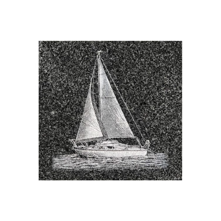 Sail Boat Etching